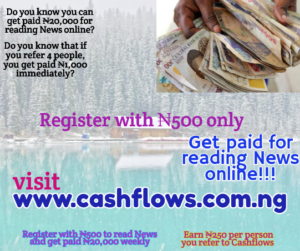 cashflows register with ₦500