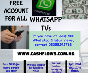 cashflows whatsapp tv