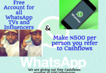 cashflows free account to influencers