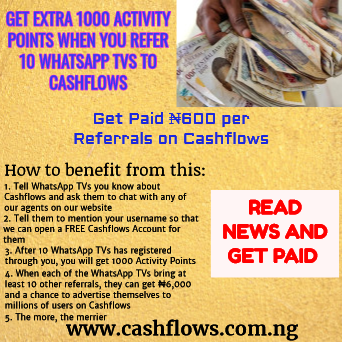 get paid 1000 points on cashflows